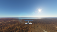 Downwind Runway 24, Mungo Lodge